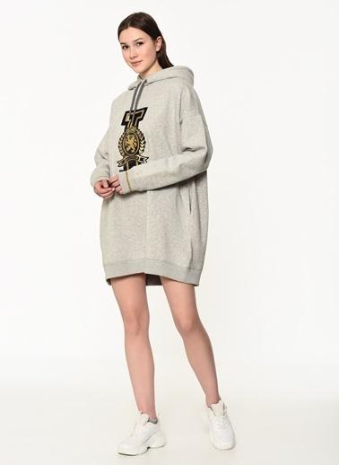 Tommy Hilfiger Kadın Icon Noella Hooded Dres Elbise WW0WW23746 Gri